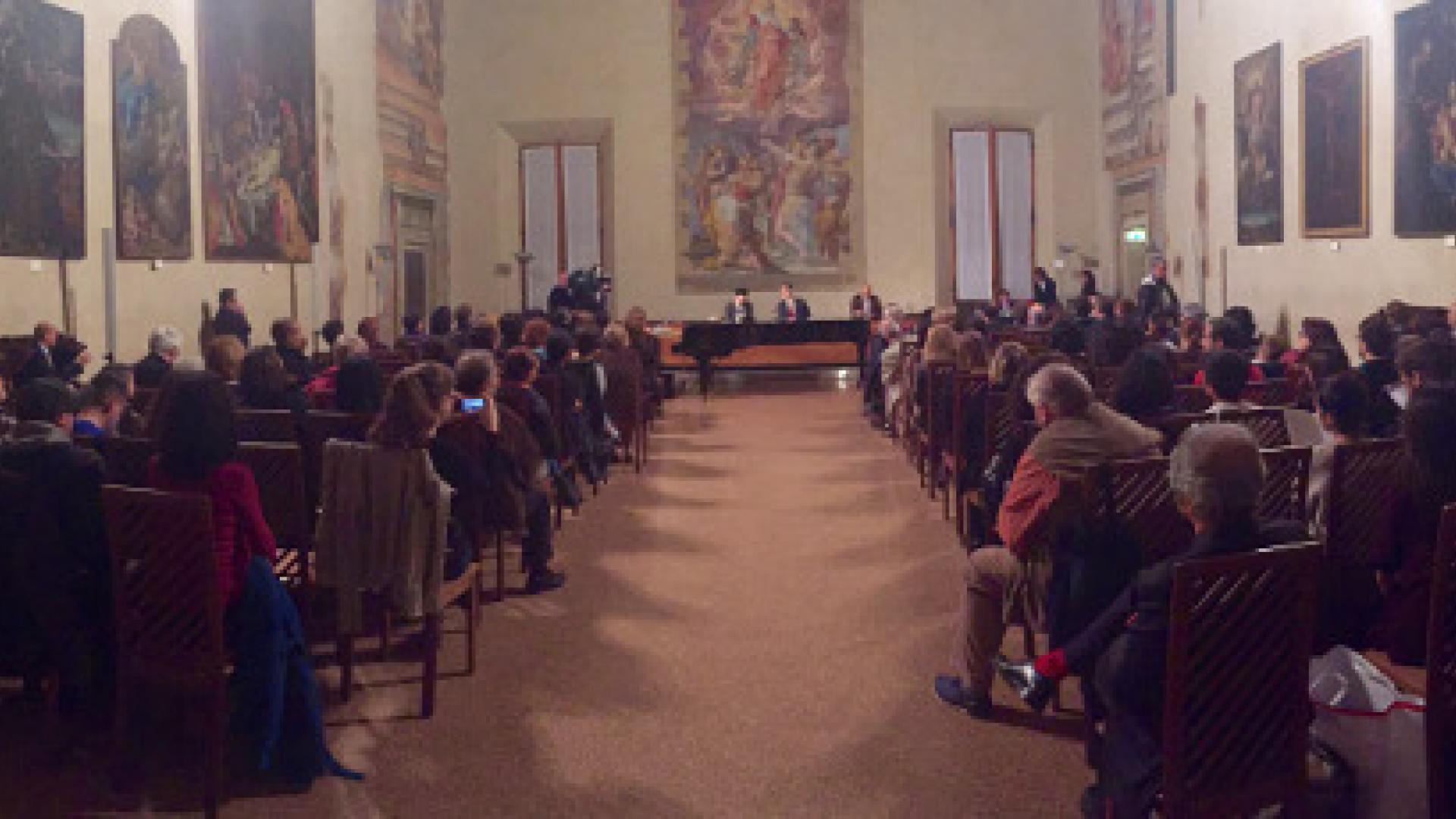 Ezio Bosso conferimento Nettuno d'Oro in Cappella Farnese