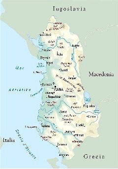 Cartina Albania Fisica.Albania Carta D Identita