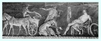 Priamo chiede ad Achille il corpo di Ettore (bassorilievo