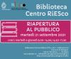 Riapertura della biblioteca del Centro RiESco - settembre 2021