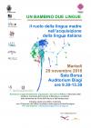 Seminario UN BAMBINO DUE LINGUE. Il ruolo della lingua madre nell'acquisizione della lingua italiana