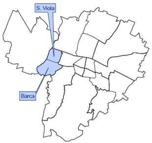 mappa area reno