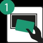 avvicina la carta smeraldo al lettore