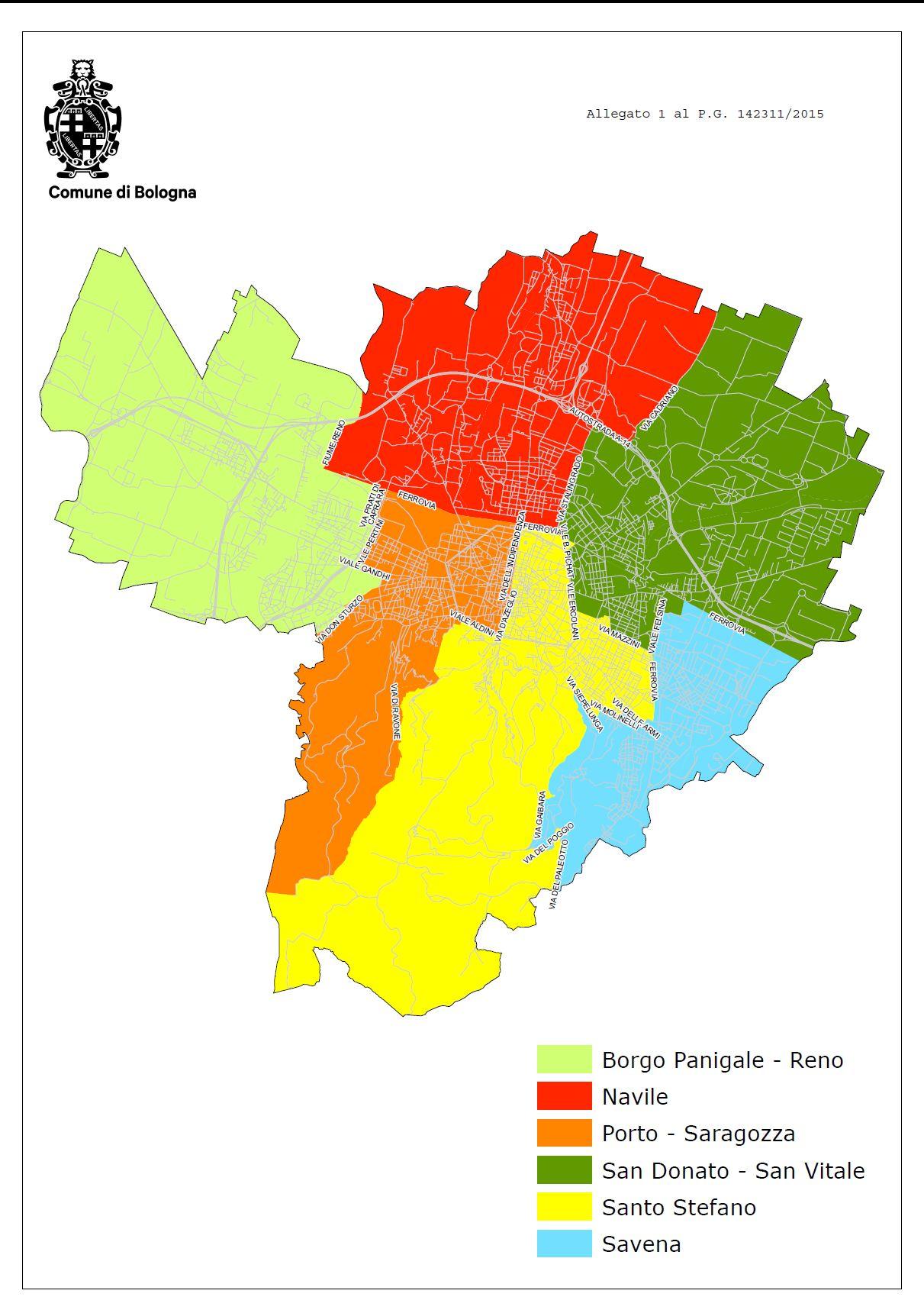 Bologna Cartina Quartieri.Dal Prossimo Mandato I Quartieri Passano Da 9 A 6 I Consiglieri Da 152 A 90 Nuove Funzioni E Piu Partecipazione Iperbole