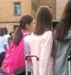 alunni al primo giorno di scuola
