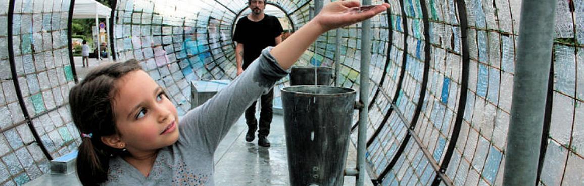 Foto installazione L'acqua è di tutti per Piano nazionale scuola digitale a Bologna