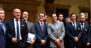 foto di gruppo Merola e Bologna