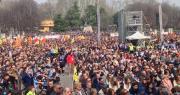 Folla in piazza 8 agosto alla manifestazione di Libera