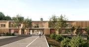 Rendering ingresso nuove scuole Carracci