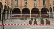Piazza Scaravilli con transenne