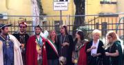 foto di gruppo inaugurazione piazzetta Magnus