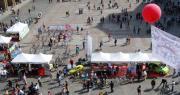 Immagine di Piazza Maggiore durante la Settimana europea mobilità sostenibile