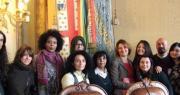 Foto di gruppo della Presidente con le ragazze