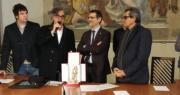 La band degli Stadio premiata dal Sindaco Merola con il Nettuno d'Oro