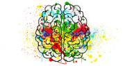 disegno di una mente colorata per news coronavirus e supporto psicologico