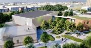rendering edificio nuovo polo scolastico Federzoni