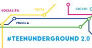 locandina teenunderground con  programma estivo di eventi dedicati a bambini e ragazzi
