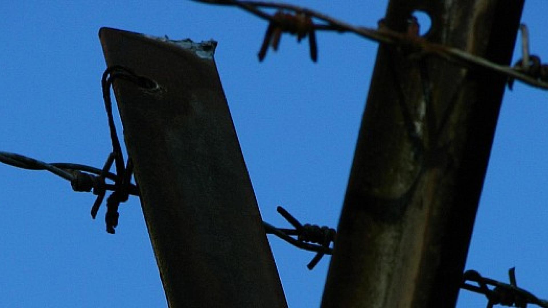 Foto cielo e filo spinato