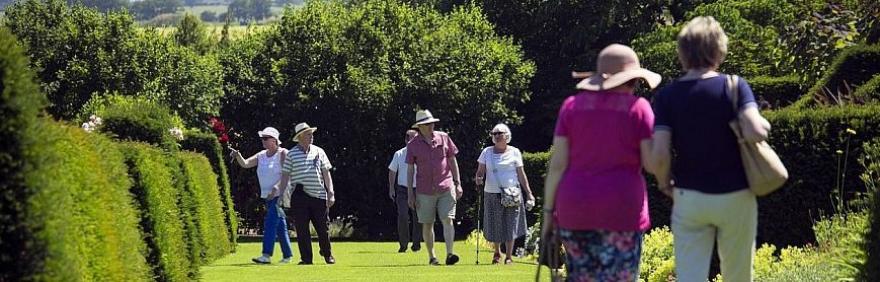 Anziani nel parco