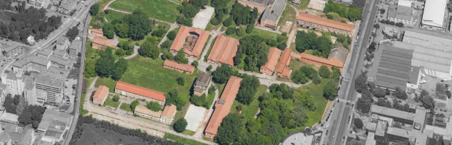 Caserma Sani, vista dall'alto