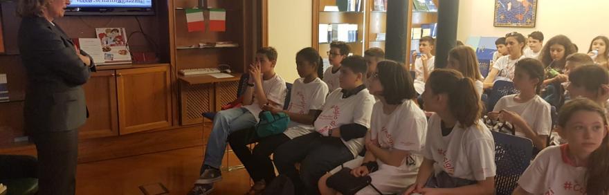 Consiglio di Quartiere dei Ragazzi e delle ragazze in visita al Senato della Repubblica
