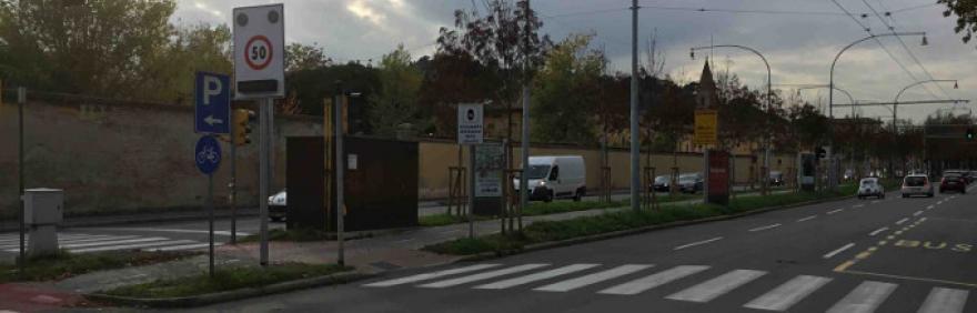 Autovelox in viale Panzacchi