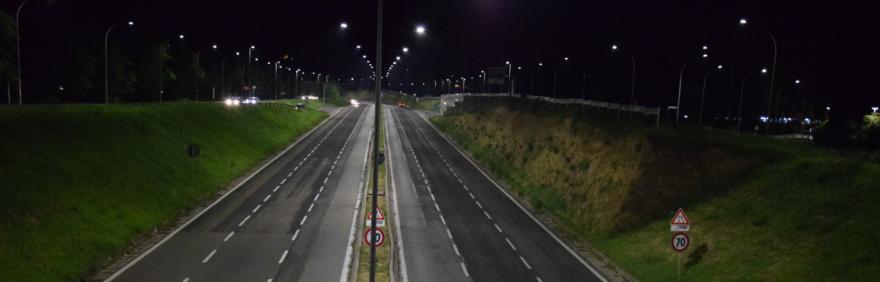 viale Sandro Pertini con nuova illuminazione