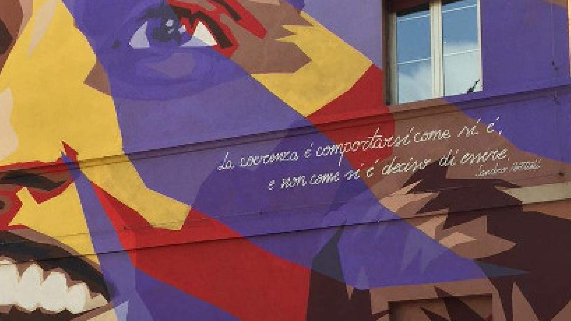Murale Irma Bandiera scuola Bombicci