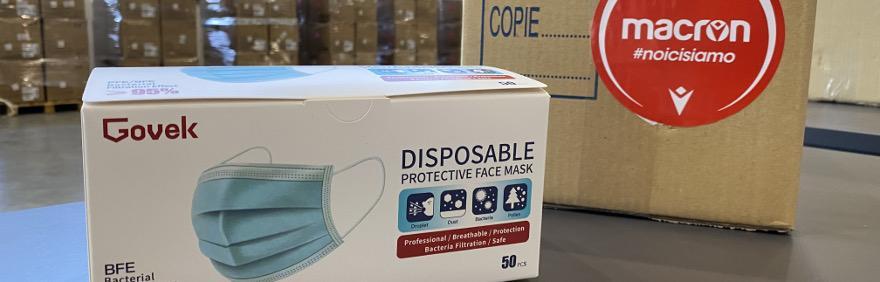 scatola di mascherine macron