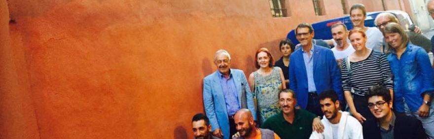 foto di gruppo con il sindaco Merola