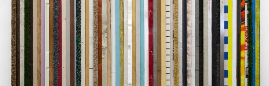 Cross Section, 2014 materiali vari, compensato, acciaio 229.8 x 314.9 x 15.2 cm courtesy l'artista e Grimm Gallery, Amsterdam