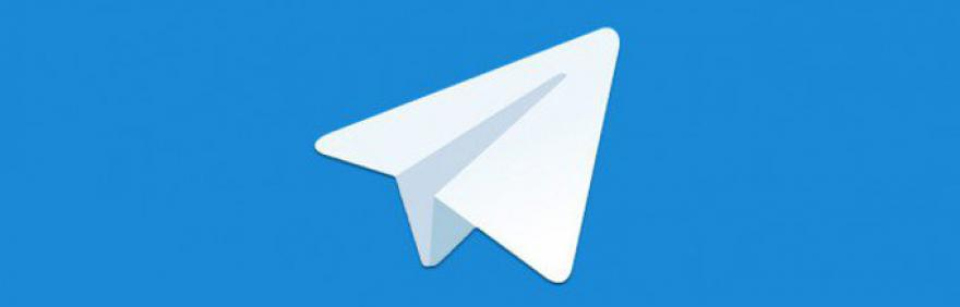 logo telegram aeroplanino di carta