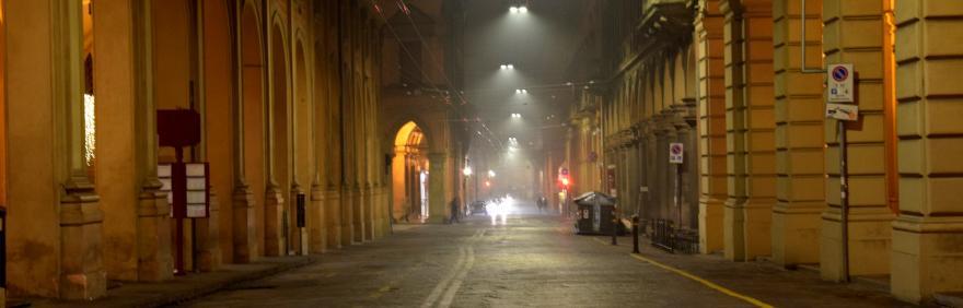 Via Farini con nuova illuminazione