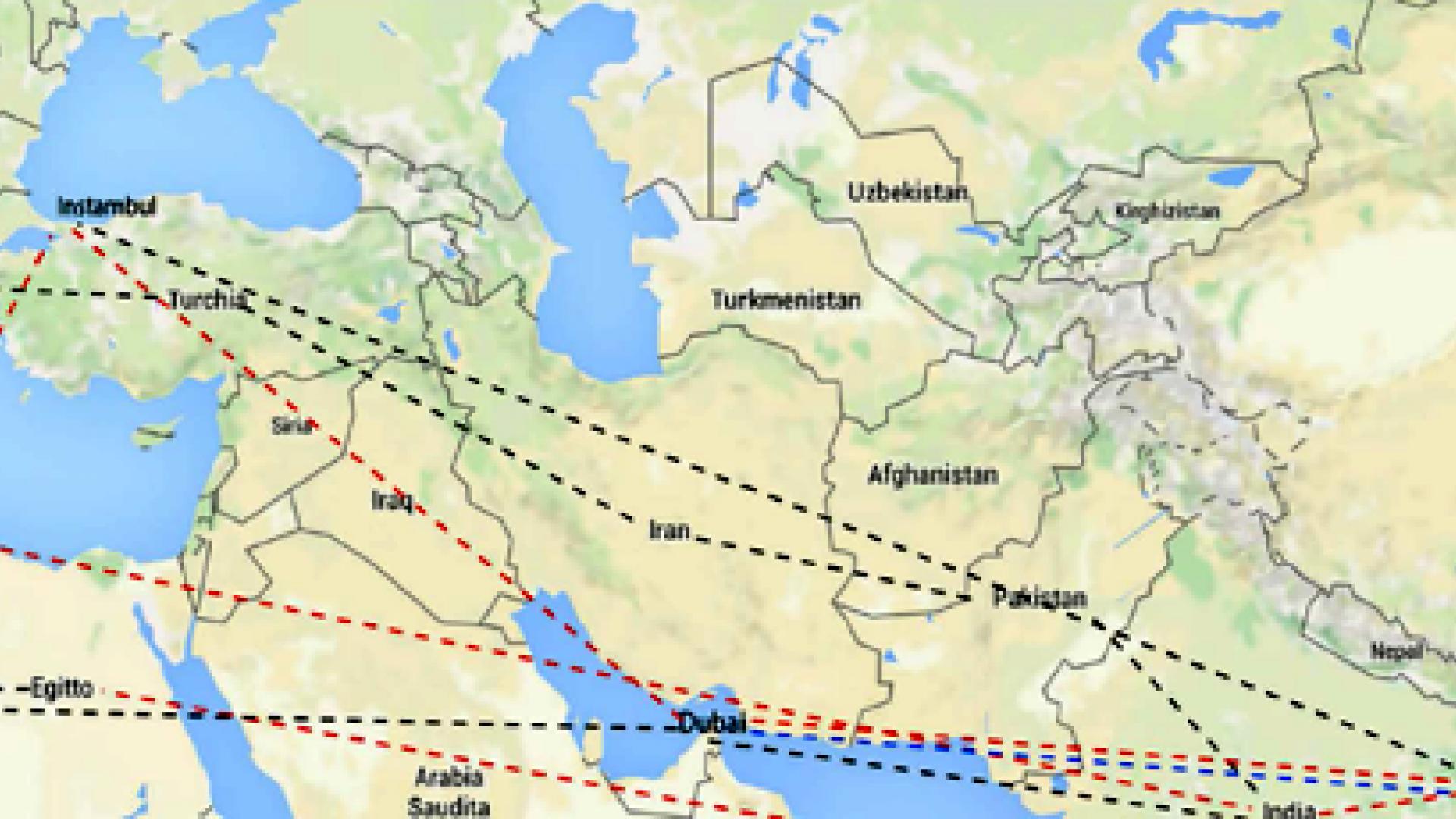 mappa migrazioni asia