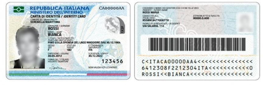 Immagine nuova Carta di identità elettronica