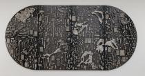 Garden of Forking Paths, 2013 acciaio, bronzo bianco, rame, bronzo bianco scurito  304.8 x 609.6 x 10 cm Grimm Gallery, Amsterdam  immagine courtesy  l'artista e Grimm Gallery, Amsterdam  foto Joshua White
