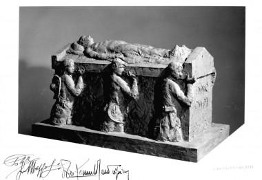 Plastico della tomba di Enio Gnudi, opera dello scultore Farpi Vignoli