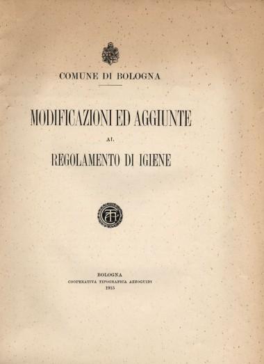 Regolamento di Igiene, 1915