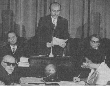 Saluto del Sindaco Renato Zangheri, eletto il 29 luglio 1970.