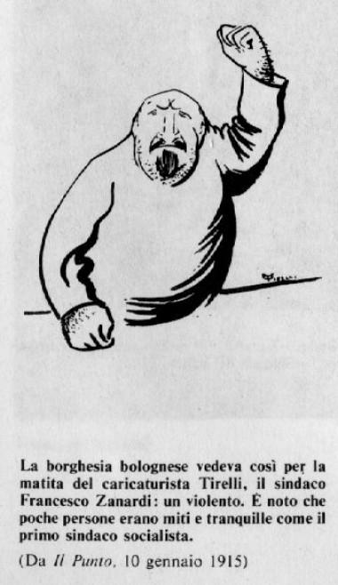 Francesco Zanardi disegnato dal caricaturista Tirelli.