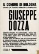Retro della cartolina ricordo del Sindaco Giuseppe Dozza
